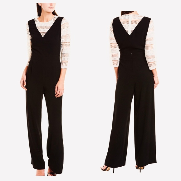 CeCe Other - CECE $169 NWT Black & White Lace Long Jumpsuit